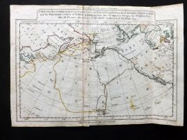 Guthrie 1788 Map of the Discoveries made by Capt. Cook & Clerke. USA Canada